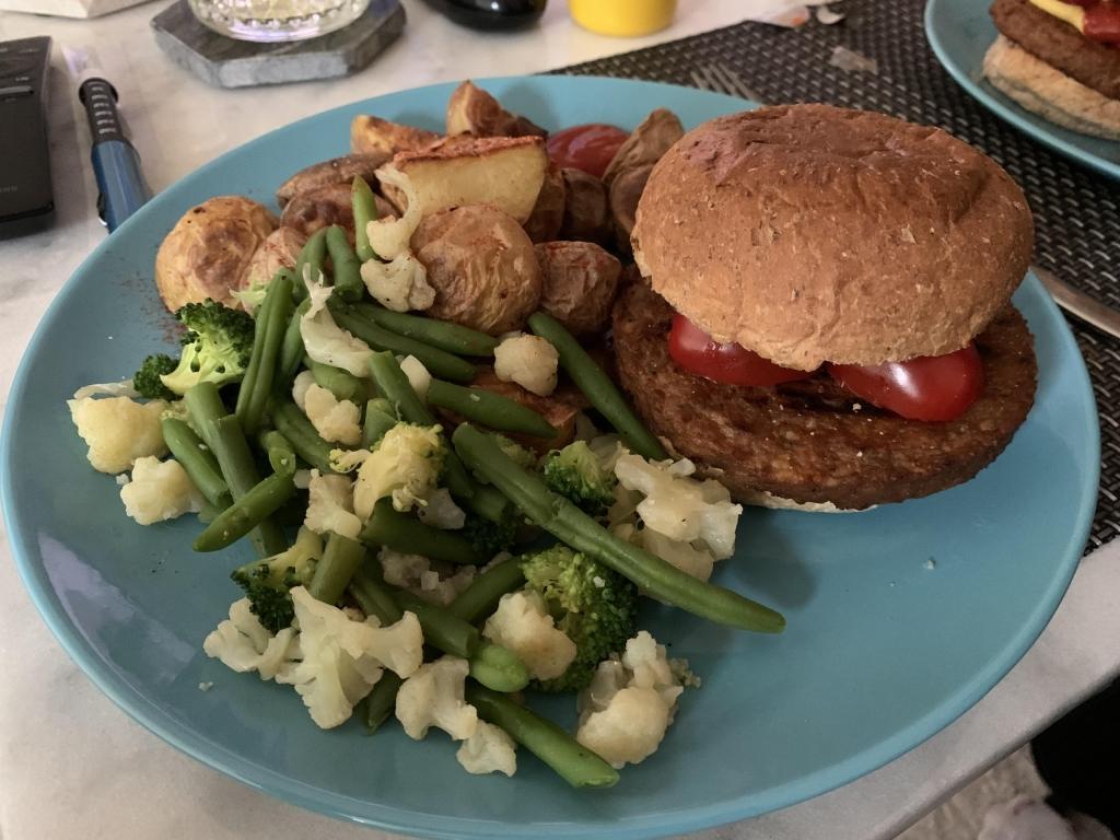 Foto met maaltijd waarbij pre-bolus overwogen kan worden.